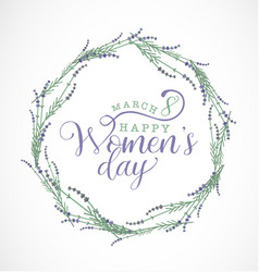 Women s day typographical design element vector