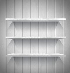 Wooden shelves vector image vector image