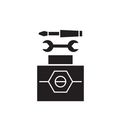 working tools black concept icon working vector image
