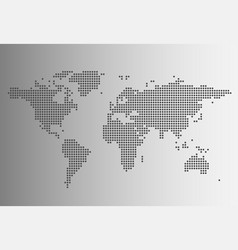 world map in dotted style vector image