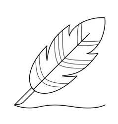 writing feather line icon vector image