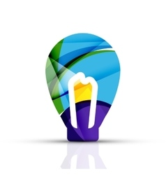 Abstract light bulb logo design made of color vector image vector image
