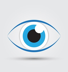 blue eye2 vector image