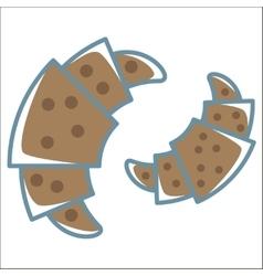 croissant line icon vector image