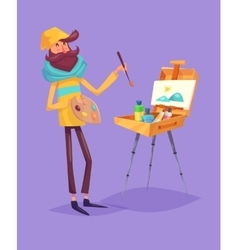 Funny artist character Isolated vector image vector image