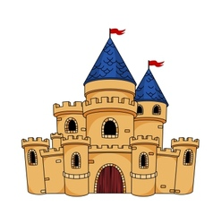 Medieval castle or fortress vector image
