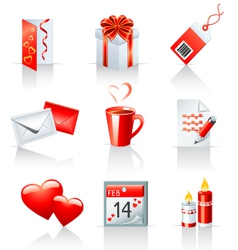 st valentines day icons vector image vector image