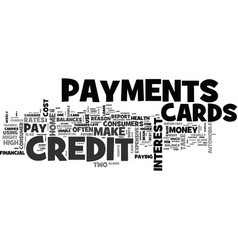 wise use of credit cards text word cloud concept vector image vector image