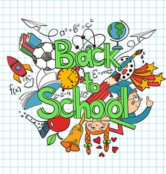 Colorful sketch Back to School Background vector image vector image