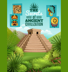 Maya cartoon poster vector