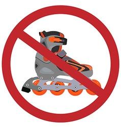 No rollerblades sign vector image