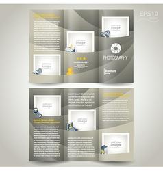 photography brochure design template photo camera vector image vector image