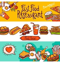 Fast Food Banners vector image vector image