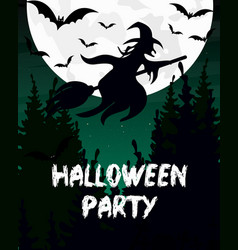 halloween party invitation or vector image vector image