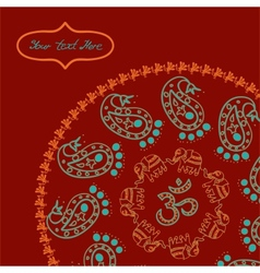 Indian style circle background for your design vector image vector image