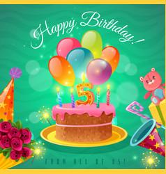celebration birthday poster vector image vector image