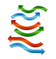 Color arrows shiny design set vector image vector image