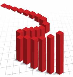 graph and grid vector image vector image