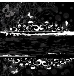 grunge pattern banner vector image vector image