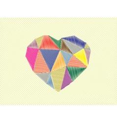 Love hearts vector image vector image