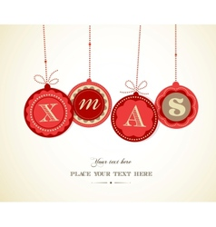 Retro Christmas balls with text space vector image vector image