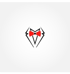 Suit logo design template Gentleman vector image