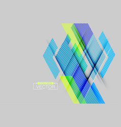 Abstract blue geometric shape scene vector