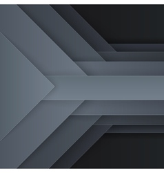 Abstract dark gray paper triangle shapes vector image