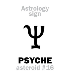 Astrology asteroid psyche vector