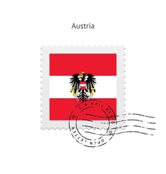 Austria Flag Postage Stamp vector