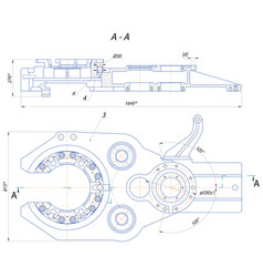 automatic key drilling vector image