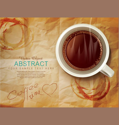 Background with a cup coffee vector