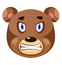 Bear is feeling mad on white background vector
