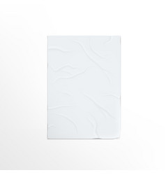 Blank urban adhesive poster on white wall vector