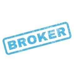 Broker Rubber Stamp vector