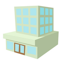 Building icon cartoon style vector