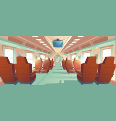 bullet train cabin express railway vector image