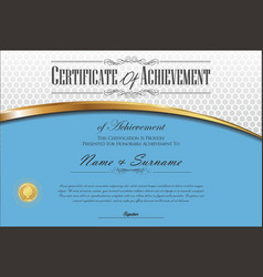 Certificate or diploma retro vintage template 4 vector