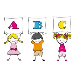 children alphabet vector image