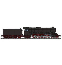 Classic black steam locomotive vector