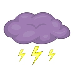 Clouds and storm icon cartoon style vector