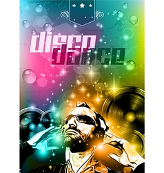 Club background for disco dance international vector