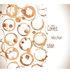 Coffee cup marks vector