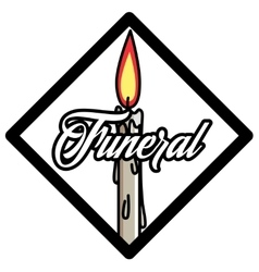 Color vintage funeral emblem vector image
