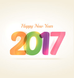 Colorful 2017 text on white background vector