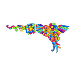 Decorative frame with tropical birds mexican vector