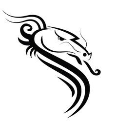 Dragon black vector