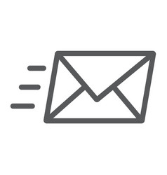 email line icon business and address message vector image