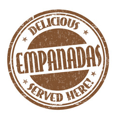 empanadas sign or stamp vector image