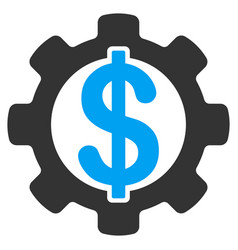 financial development gear flat icon vector image